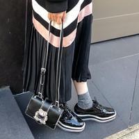 sporty enamel oxford shoes