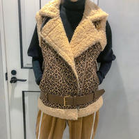 leopard riders vest