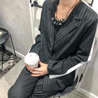 strip jacket shirt