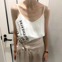 logo camisole (white)