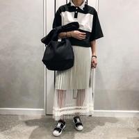 frill short shirt (black)