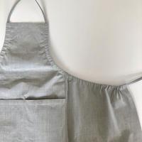 石井すみ子 「手織り綿布エプロン・墨染め」