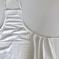 石井すみ子 「手織り綿布エプロン・白」