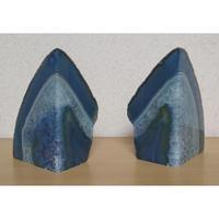 天然石 メノウ(ブラジル産)ブックエンド セット