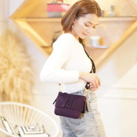 LozzSandra/ Mini fringe shoulder bag【マルベリー】
