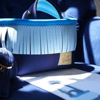 Lozz Sandra カラーオーダー / Fringe Mini Tote bag(ストラップ付属)