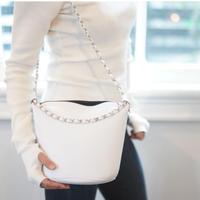 LozzSandra/Chain bag 【CHANGE 】BALL  (ホワイト× シルバーボール)