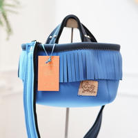 LozzSandra/fringe MINI tote bag(ブルー)