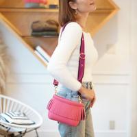LozzSandra/ Mini fringe shoulder bag【ネオンピンク】