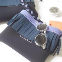 Fringe shoulder bag / original  (ラベンダー)