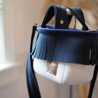 LozzSandra/fringe MINI tote bag(スレートグレー フリンジ)