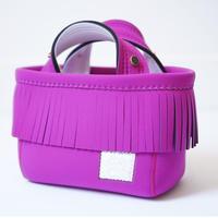Lozz Sandra Fringe Mini Tote Bag / Rouge × White