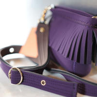 LozzSandra/Mini fringeshoulderbag (Mulberry)