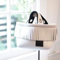 LozzSandra/fringe MINI tote bag(ホワイト)