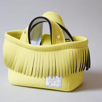 [予約販売]Lozz Sandra Fringe Mini Tote Bag / Yellow × White