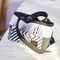 Lozz Sandra カラーオーダー / FringeTote bag(ストラップ付属)R/hombus柄
