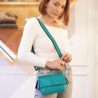 LozzSandra/ Mini fringe shoulder bag【ターコイズ】