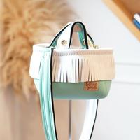 LozzSandra/fringe MINI tote bag(ホワイト フリンジ)