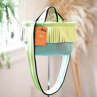 LozzSandra/fringe MINI tote bag(ネオングリーン フリンジ)