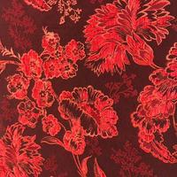 即能可 ベルベット素材 赤刺繍 生地 ※注意事項をご確認ください