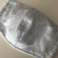 竹布ガーゼ使用 ※大きめサイズ ブルーレース立体アイスマスク(紐を太めに改良しております) 保冷剤20g✖️2個※送料は別カートにお入れ下さい