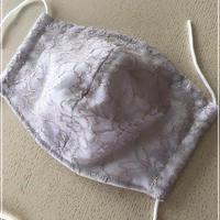 竹布ガーゼ使用 ※大きめサイズ 即納可 ベージュレース立体マスク ※送料は別カートにお入れ下さい