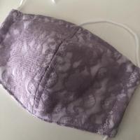 竹布ガーゼ使用 ※大きめサイズ 即納可 パープル立体マスク ※送料は別カートにお入れ下さい