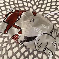 ※転売禁止 即能可HERMESファブリック手作りマスク ※送料は別カートに必ずお入れください