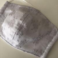 竹布ガーゼ使用 ※大きめサイズ グレーレース立体アイスマスク 保冷剤20g✖️2個※送料は別カートにお入れ下さい
