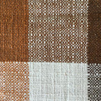 brown check cloth