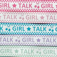 B 25mm GIRL TALKグログランリボンセット 5種x2@10mセット