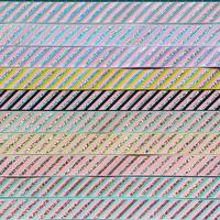 25mm シルバーホロ斜めストライプグログラン 10種x2m@20mセット
