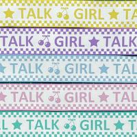 A 25mm GIRL TALKグログランリボンセット 5種x2@10mセット