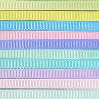 6mm無地グログランリボンセット 10種x1m@10mセット
