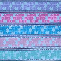 A サイドロゴxパズル柄グログランリボンセット 5種x2m@10mセット