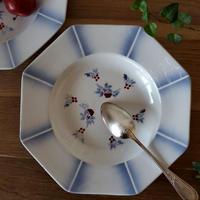 爽やかブルーぼかしのオクトゴナル深皿#1