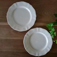 サルグミンヌ花リムデザート皿2枚セット#2