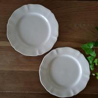 サルグミンヌ花リムデザート皿2枚セット#1