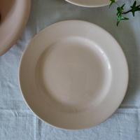 パウダーピンクのデザート皿#3