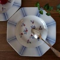 爽やかブルーぼかしのオクトゴナル深皿#2