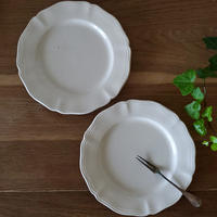 サルグミンヌ花リムデザート皿2枚セット#6