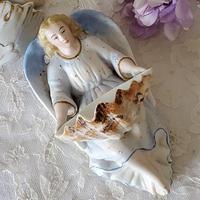 ビスク天使の聖水盤