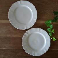 サルグミンヌ花リムデザート皿2枚セット#3
