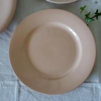 パウダーピンクのディナープレート#1