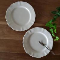 サルグミンヌ花リムデザート皿2枚セット#4