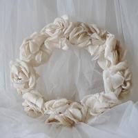 リネン薔薇の花冠
