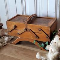 木製スライド式ソーイングボックス