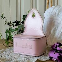 ホーローピンクのアリュメット缶