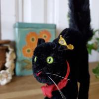 シュタイフ黒猫のトムキャット