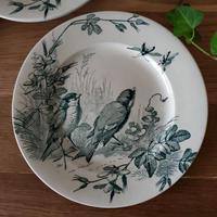 ヴィエイヤー ボルドーのデザートプレート 小鳥と虫たち#1